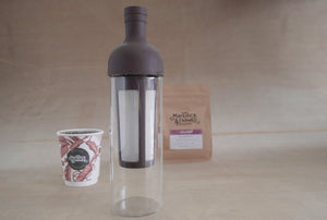 Hario Cold brew Filter in coffee bottle