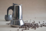 Beginner stainless steel Moka Pot - home espresso