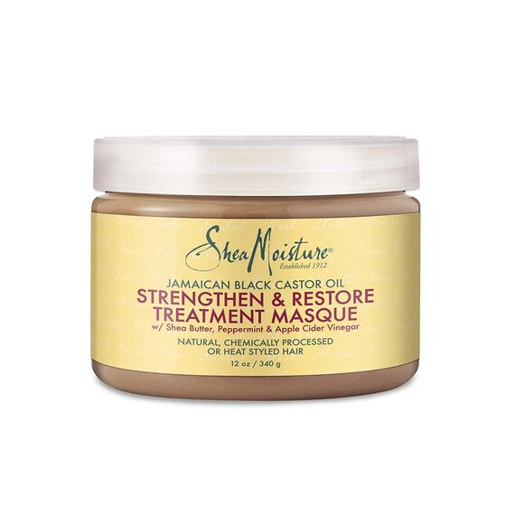 Shea Moisture Black Castor Oil Strengthen & Restore Treatment Masque - All Star Beauty Complex