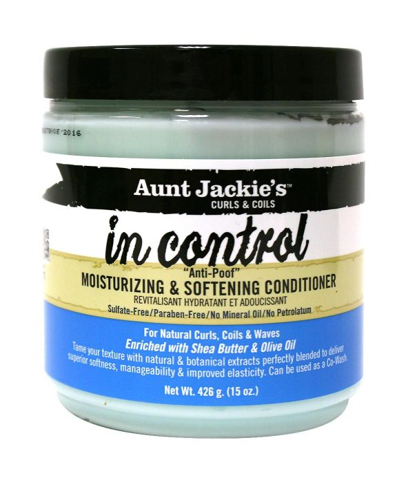 AUNT JACKIE'S IN CONTROL ANTI-POOF MOISTURIZING & SOFTENING CONDITIONER 15 OZ - All Star Beauty Complex