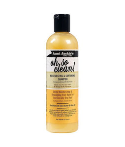 AUNT JACKIE'S OH SO CLEAN MOISTURIZING & SOFTENING SHAMPOO 12 OZ - All Star Beauty Complex