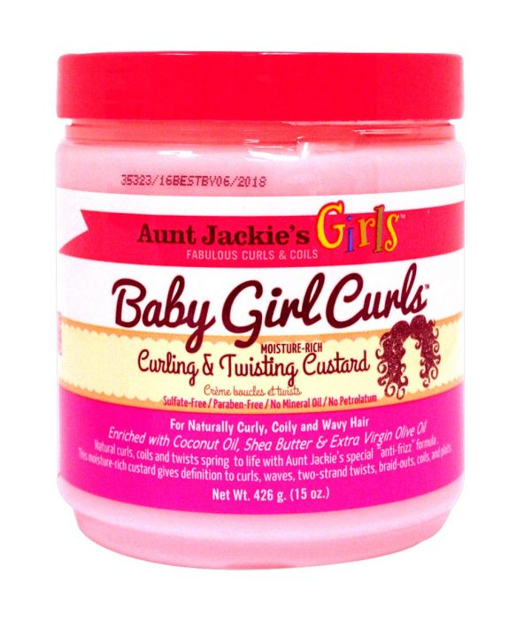 AUNT JACKIE'S GIRLS BABY GIRL CURLS CURLING & TWISTING CUSTARD 15 OZ - All Star Beauty Complex