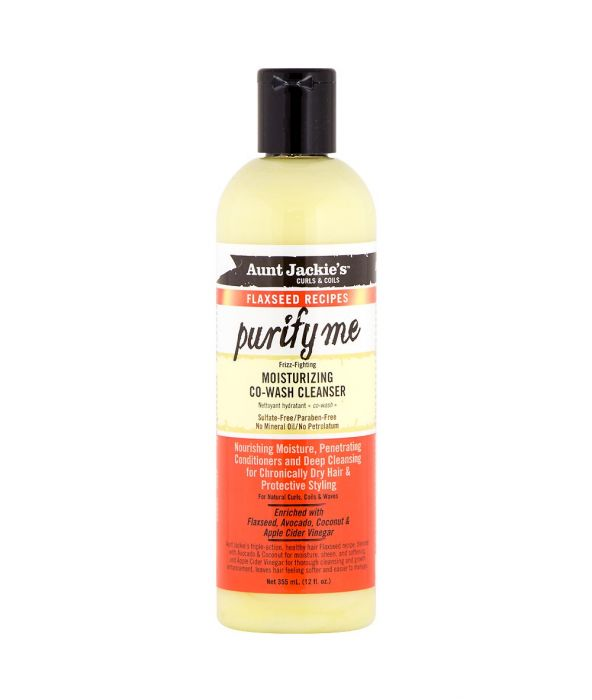 AUNT JACKIE'S FLAXSEED RECIPES PURIFY ME MOISTURIZING CO-WASH CLEANSER 12OZ - All Star Beauty Complex