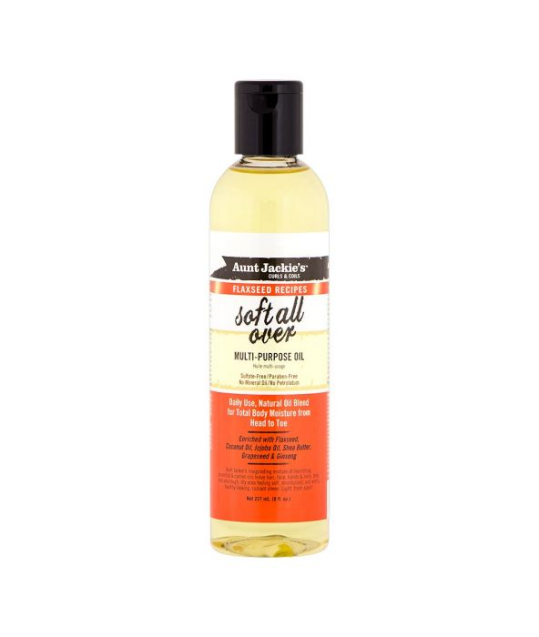 AUNT JACKIE'S FLAXSEED RECIPES SOFT ALL OVER MULTI-PURPOSE OIL 8OZ - All Star Beauty Complex