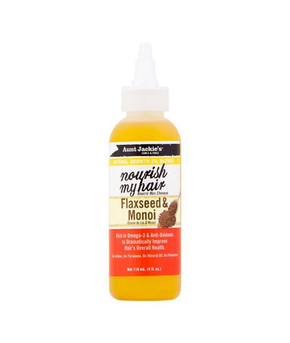 AUNT JACKIE'S NOURISH MY HAIR FLAXSEED & MONOI 4 OZ - All Star Beauty Complex