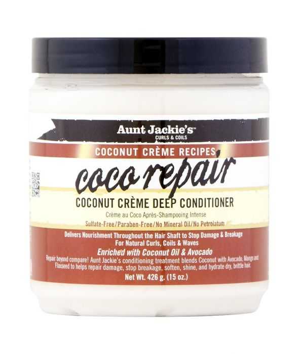 AUNT JACKIE'S COCONUT CREME RECIPES COCO REPAIR COCONUT CREME DEEP CONDITIONER 15 OZ - All Star Beauty Complex