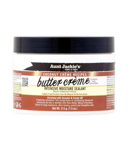 AUNT JACKIE'S COCONUT CREME RECIPES BUTTER CREME INTENSIVE MOISTURE SEALANT 7.5 OZ - All Star Beauty Complex