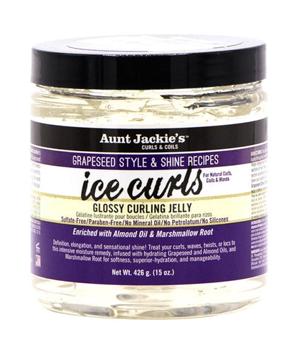 AUNT JACKIE'S GRAPESEED ICE CURLS GLOSSY CURLING JELLY - All Star Beauty Complex