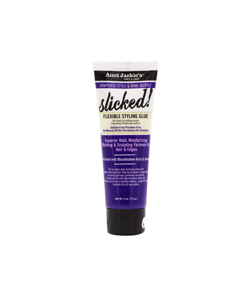 AUNT JACKIE'S GRAPESEED SLICKED! FLEXIBLE STYLING GLUE 4OZ - All Star Beauty Complex