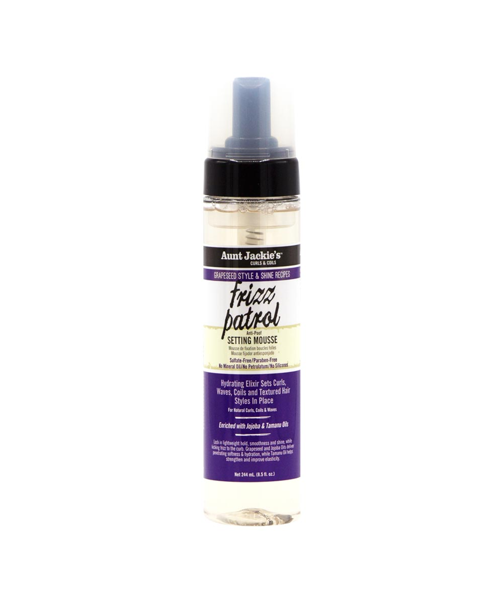 AUNT JACKIE'S GRAPESEED FRIZZ PATROL ANTI-POOF SETTING MOUSSE - All Star Beauty Complex