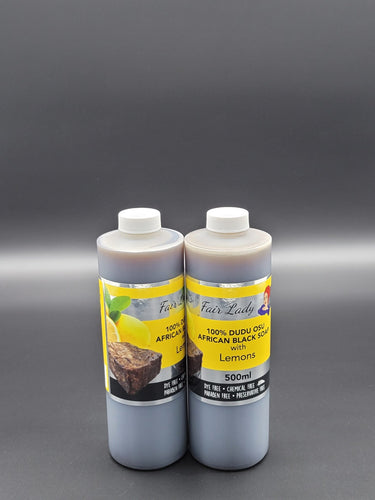 100% Dudu Osu African Black Soap with Lemons - All Star Beauty Complex