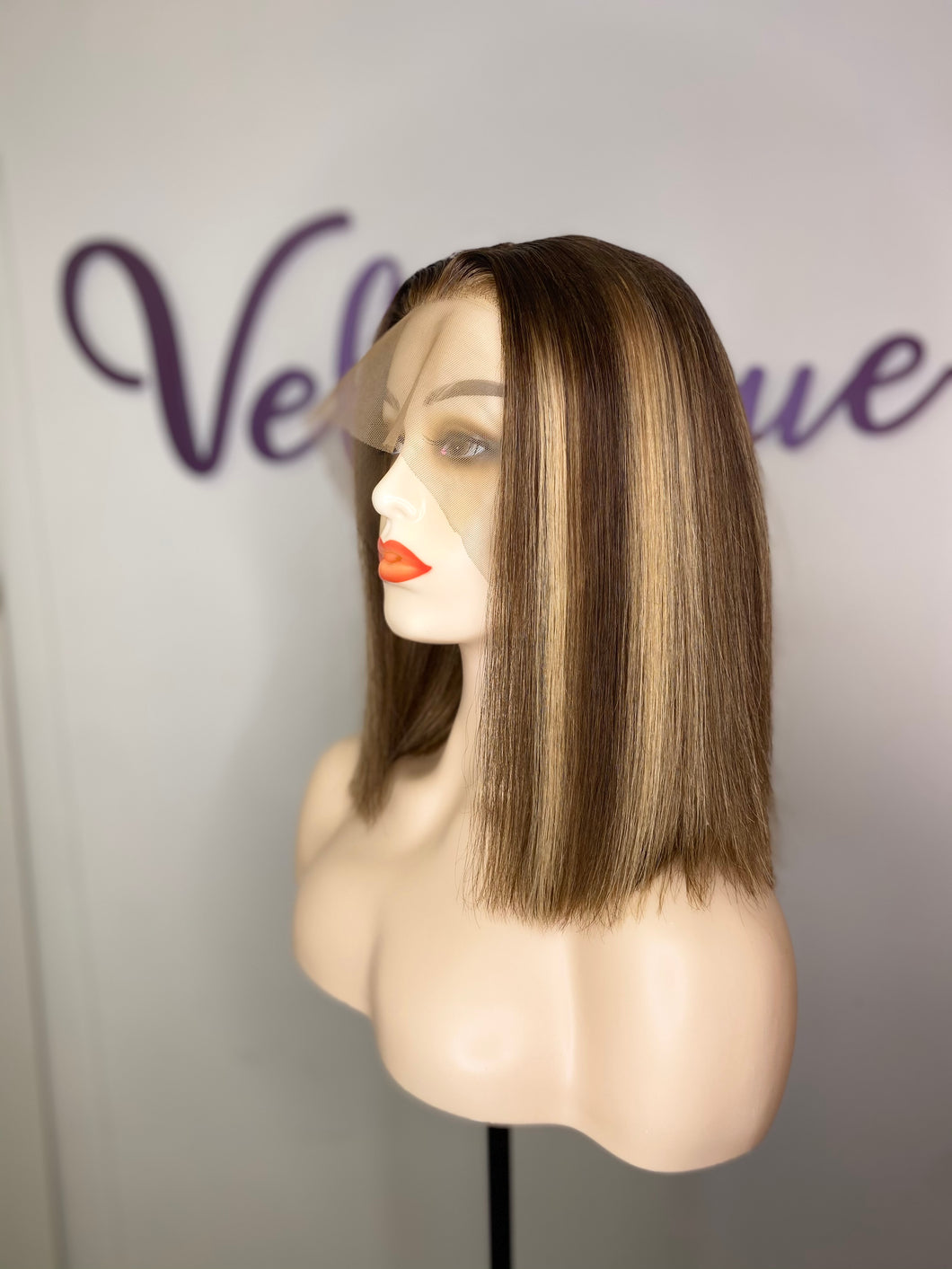 13x4 Blonde Highlights Frontal Bob Unit - All Star Beauty Complex