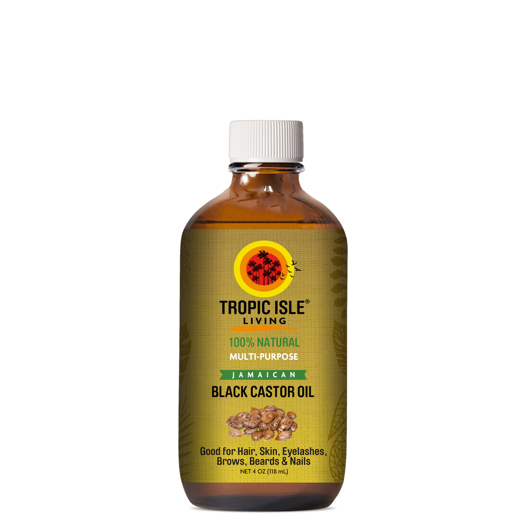 Tropic Isle Living 100% Natural Jamaican Black Castor Oil 4oz - All Star Beauty Complex