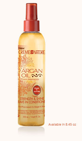 CREME OF NATURE ARGAN OIL STRENGTH & SHINE LEAVE-IN CONDITIONER 8.45 OZ - All Star Beauty Complex