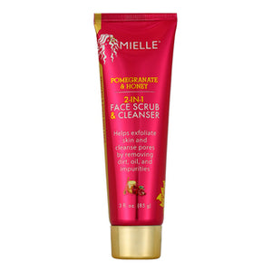 Mielle Organics Pomegranate & Honey 2-in-1 Face Scrub & Cleanser (3oz) - All Star Beauty Complex