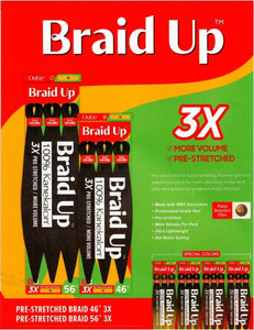 "Outre Braid Up 3x Pre-Stretched Hair 56"" - All Star Beauty Complex"