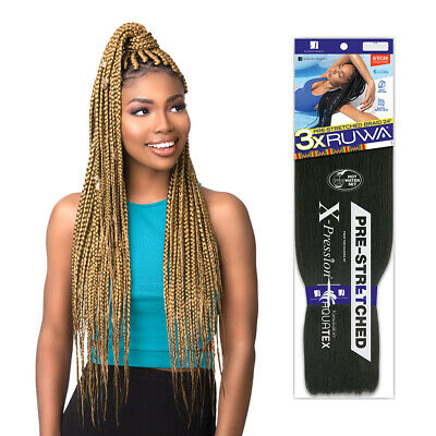 Sensationnel 3X Ruwa Pre-Stretched X-Pression Aquatex Kanekalon Hair Braid 24