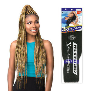 "Sensationnel 3X Ruwa Pre-Stretched X-Pression Aquatex Kanekalon Hair Braid 24"" - All Star Beauty Complex"