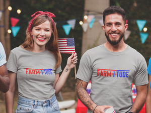 Farm-i-tude T-Shirt Supporting Our U.S. Vets