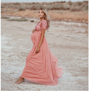 2020 Fashion Women Photography Photo Props Maxi Gown Maternity Dress