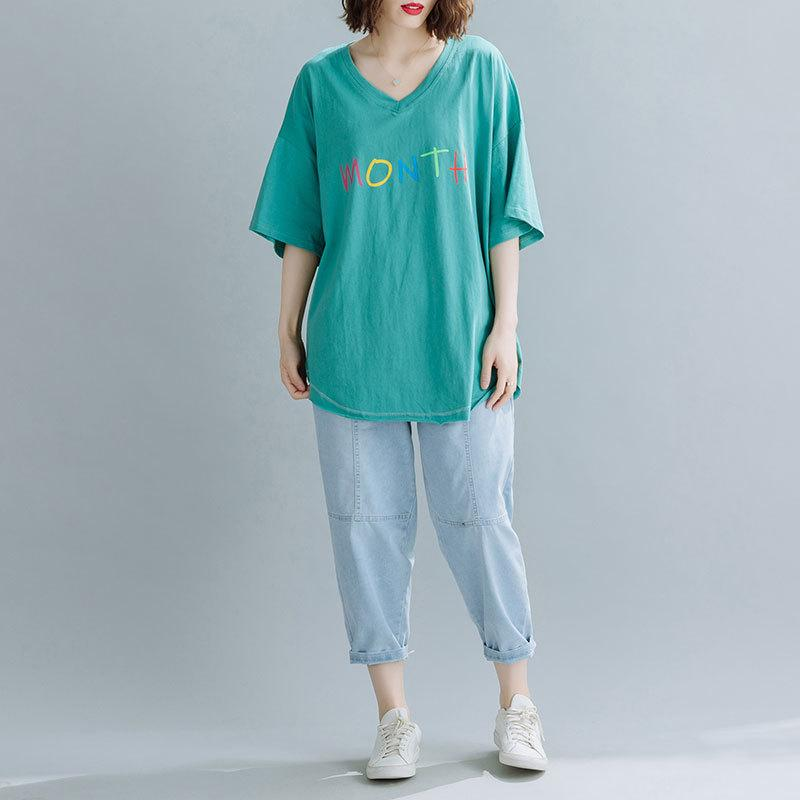 New Spring'S New Mid-Length Loose Fat Large Size Women'S Short-Sleeved Tops For Pregnant Women