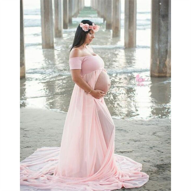 Explosions cross-border supply Amazon fork drag pregnant women dress maternity photography studio photo