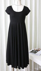 Maternity O-neck Short Sleeve Slim Pregnancy Dress