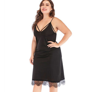 Sexy Lace Erotic Sling Plus Size Nightdress