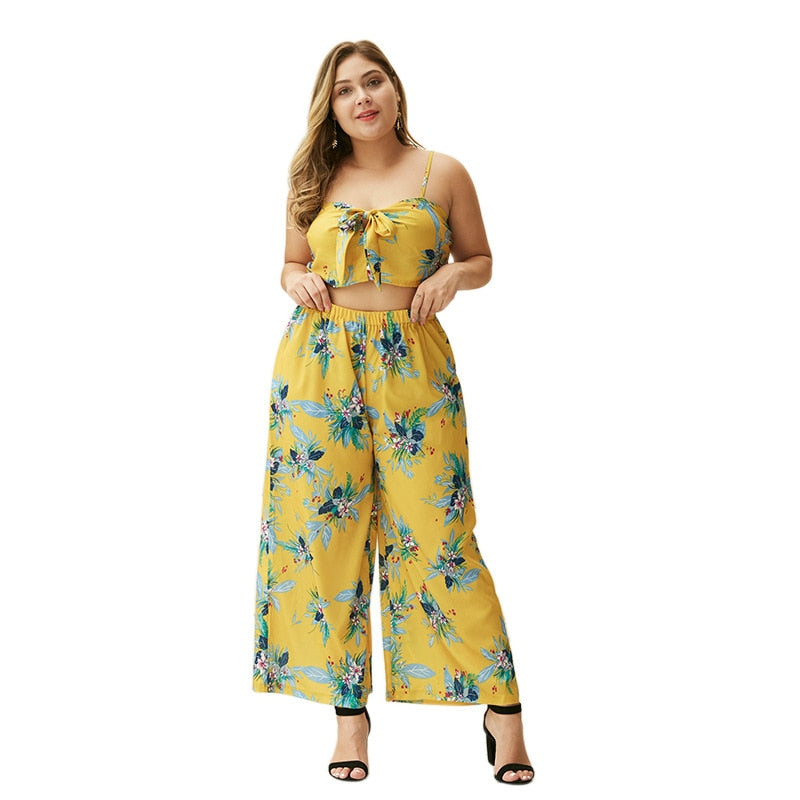 WHZHM Summer Bow Sexy Plus Size Sets