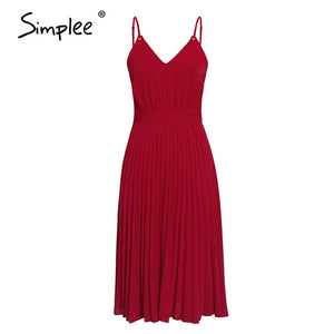 Simplee Sexy V-neck Women Party Dress