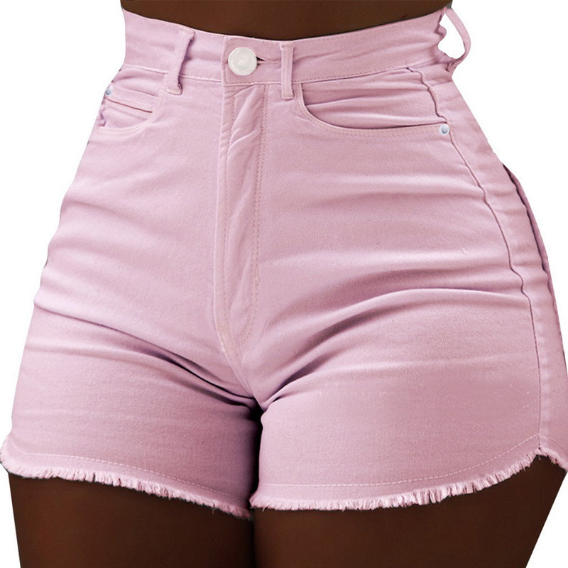 CALOFE New 2020 Summer Demin Jeans Fashion Solid Washed Casual Ladies Sexy Shorts