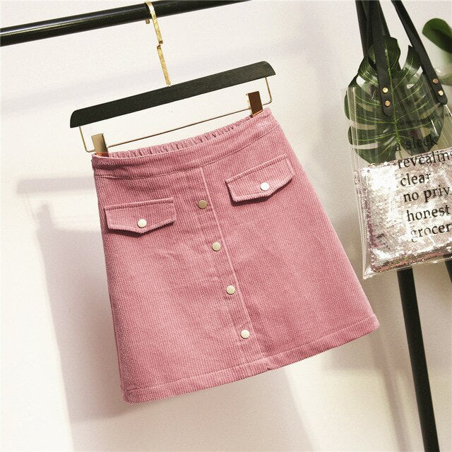 Women Elegant Loose Casual Elastic Waist Plus Size Skirt