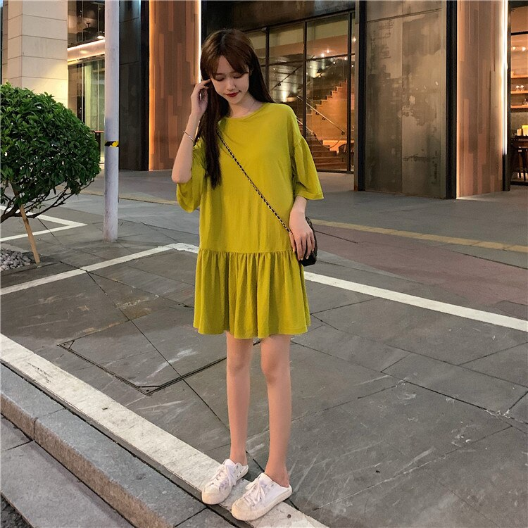 Solid Color Summer Dress