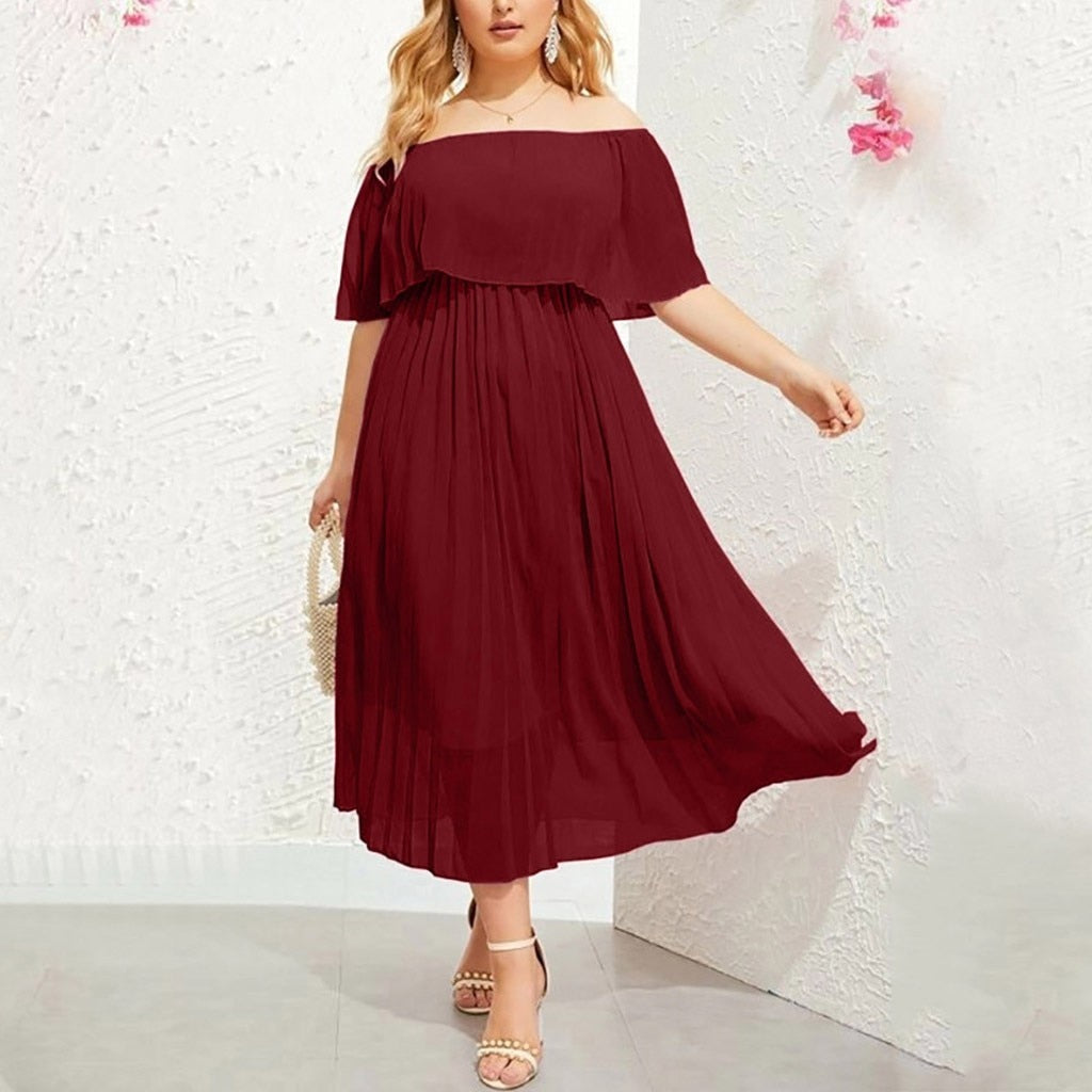 Chiffon Off The Shoulder Dress