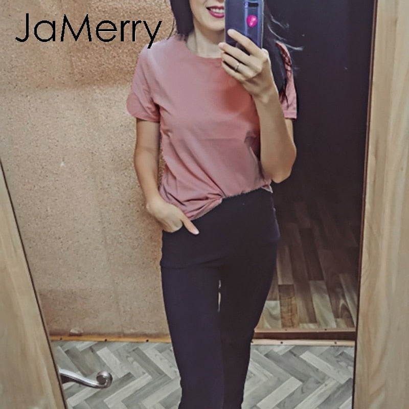 Jamerry O-Neck Plus Size Tops