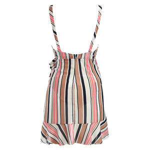 Fashion Maternity Pregnant Sleeveless Stripe Sexy Print Dress