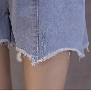 MUQGEW maternity shorts Pregnant Woman Ripped Jeans Maternity Solid Short Pants Nursing Prop Belly zwangerschaps kleding #y3