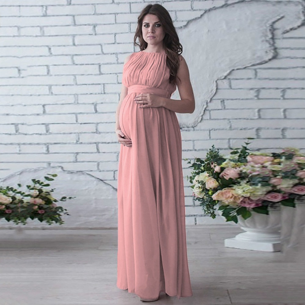 Maternity Gown Lace Ankle Pregnancy Dress For Photo Shoot
