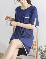 Maternity Sleepwear Breastfeeding Casual Nursing Short Sleeve Dress