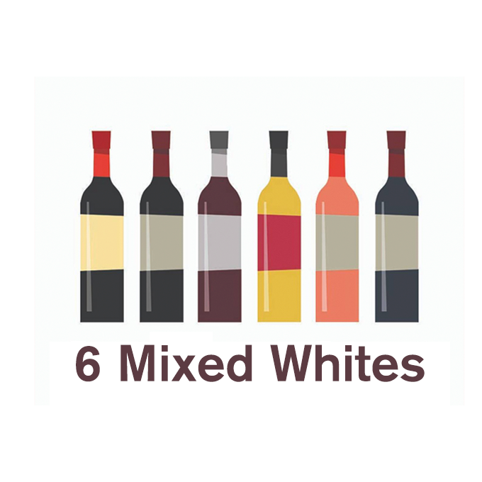 6 Mixed White Wines 'Dealer's Choice'