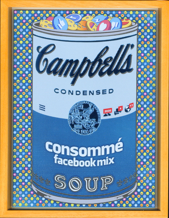 森洋史 / If There was impossible Campbell's Soup Cans... Consommé facebook Mix / miniature edition - YOUANDART(ユーアンドアート)