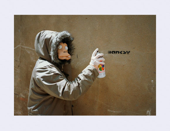 James Pfaff / Banksy Monkey Mask Session (Tag) London