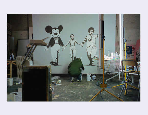James Pfaff / Banksy Painting The Canvas (1) London
