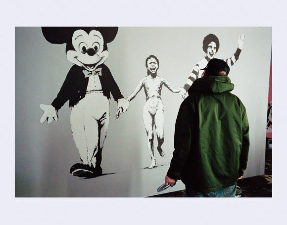 James Pfaff / Banksy Painting The Canvas (2) London