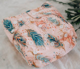 Modern Cloth Nappy - Feathers & Sparkle