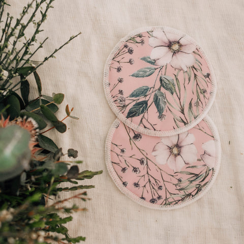 Reusable Breast Pads - Wildflowers