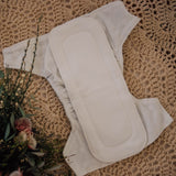 Bamboo insert for cloth nappy. Cloth diapers. My Little Gumnut. Australian cloth nappies.
