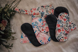 Reusable Cloth Menstrual Pads - 2 Pack with Wet Bag