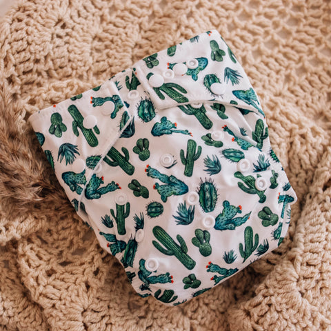 Modern Cloth Nappy Package. MCN. Reusable nappies. My Little Gumnut. Australian brand. Eco-friendly. Sustainability. Modern Cloth Nappies. Cacti. Cactus nappy.