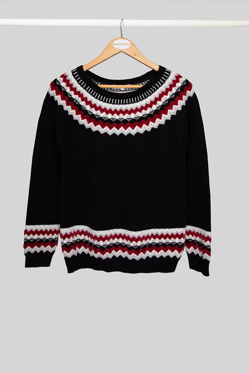 Black Fair Isle Jersey